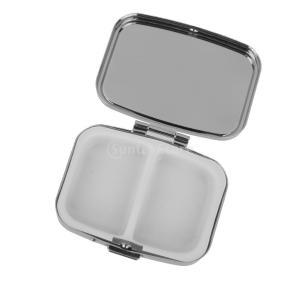 ピルボックス 金属 旅行 軽量 ポータブル メタルピルボックス 容器 ジュエリー収納 長方形 2個 お買い得 |stk-shop