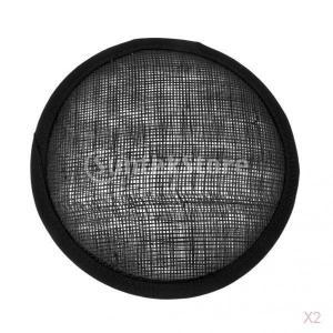 2個 ハンドメイド 手作り 帽子用 ハット ベース ラウンド型 ブラック stk-shop