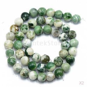 ノーブランド品 セール お買い得 2連 天然宝石 ジュエリー作る ルース宝石ビーズ ストランド - 8ミリメートル/15インチ , 瑪瑙|stk-shop