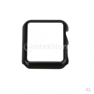 SONONIA 耐久性 実用 2個 時計ケース プロテクターカバー iwatch用 42ミリメートル 保護カバー - 黒|stk-shop