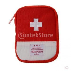キャンプ旅行救急袋緊急サバイバルキット医療ポーチレッドS|stk-shop