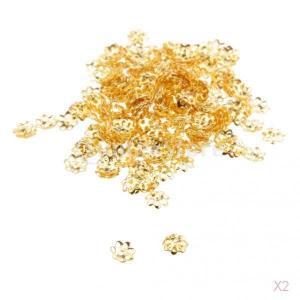 SONONIA 約600個 6MM 銅 花の形 ビーズキャップ 花座 座金|stk-shop