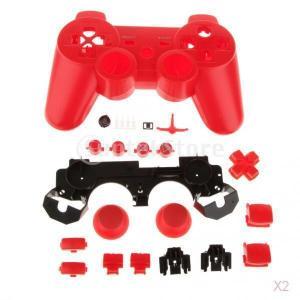 PS3のコントローラ - 赤の代替フルハウジングシェルケースMODキット|stk-shop
