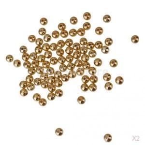 SONONIA 約200個 金 女性 写真シードビーズ アクリル ロット ルース 宝石シード 4ミリメートル|stk-shop