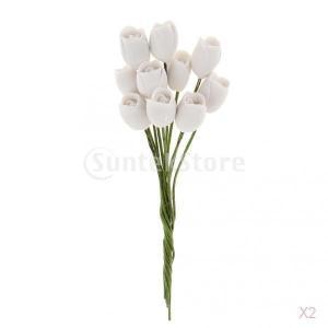 1/12スケールドールハウスミニチュア白土のチューリップの花の束|stk-shop