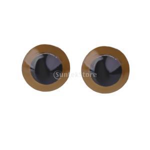 【ノーブランド品】約70pcs 8ミリメートル ミックスカラー プラスチック 安全眼 人形|stk-shop
