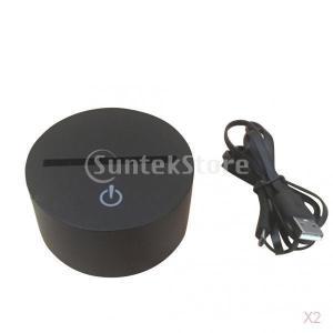 Lovoski  2セット フクロウ 7色変更 3Dライト LEDランプ 夜間灯 床頭灯 イリュージョンライト USBポート|stk-shop