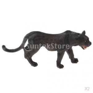 現実的なブラックパンサー野生生物動物の置物モデル図キッズ玩具ギフト|stk-shop