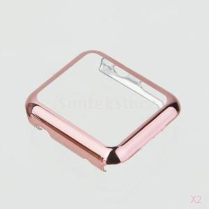 リンゴの時計ケースプロテクターカバーiwatch 38ミリメートルの皮膚バンパー用 - ローズゴールド|stk-shop