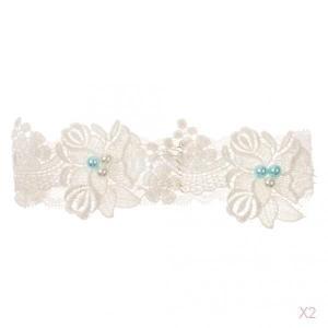 伸縮性花フラワーレースの花嫁のウェディングガーター編ナイトパーティー|stk-shop