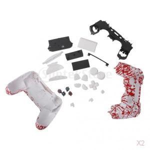 PS 4ワイヤレスコントローラのスプラ??ッシュ血液フルハウジングシェルケースボタンキット|stk-shop