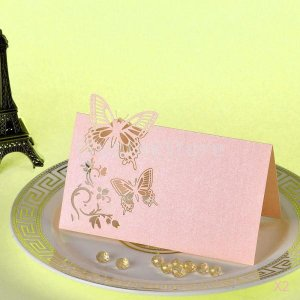 50倍の蝶のテーブル名の場所カード結婚式クリスマスパーティーの装飾の好意|stk-shop