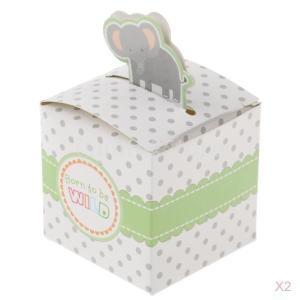 50pcsの象動物キャンディボックスの誕生日パーティーのベビーシャワーの好意の贈り物|stk-shop
