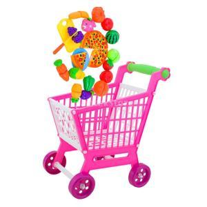 Dovewill ショッピング ハンドトロリー ミニカート 果物、野菜モデル 子供 ままごと ごっこ遊び おもちゃ プレゼント