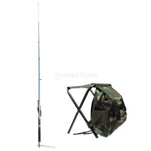 自動釣り竿 2.7メートル 釣り タックル バックパックバッグ 折り畳み式 スツール