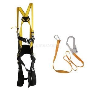 屋外 空中作業 クライミング 全身用ハーネス フルボディ 安全ストラップ ロープ コード 耐久性