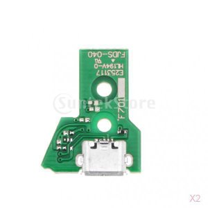SONONIA  2個入 PS4コントローラ用 USB充電ポート 電源ボード PCBボード 交換用 JDS-040 [video game]|stk-shop