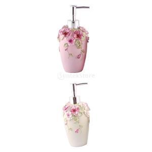 Perfk 樹脂 シャンプー ボディークレンザー 液体石鹸 食器洗浄液 ローション ディスペンサー プボトルジャー|stk-shop