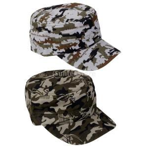 Fenteer 2個入り 屋外/釣り/狩猟/スポーツ/ジム 迷彩柄 野球帽 帽子 キャップ ハット 日焼け止め|stk-shop