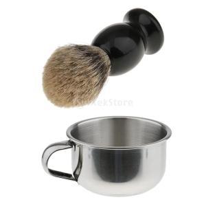 説明: シェービングブラシ: 毎日のパーソナルシェービングに必要なヘルパーブラシの髪は速乾性で落ちに...