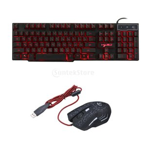 ロシア語/英語 有線 ゲーミングキーボード 6ボタン 有線 ゲーミングマウス|stk-shop