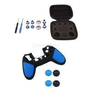 説明:  PS4コントローラ用の8個の交換用部品のフルセット、またそれらを交換するためのドライバーツ...