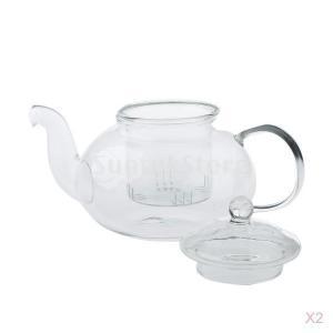 Fenteer コーヒー お茶 ティーポット 紅茶ポット 耐熱 茶器 400ml ガラス -20℃〜150℃ 透明 実用|stk-shop