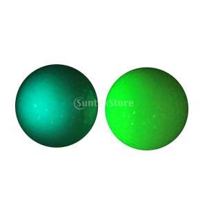 ラバー ゴルフ 夜光ボール ゴルフアクセサリー ボール トレーニング ボール ゴム製 2色セット|stk-shop