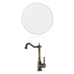 説明:  フィルタ;  バスルームの洗面器と洗面器と浴槽とシャワー 汚れて磨耗した排水廃棄物の完全な...