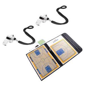 2枚入り PVC材質 バスケ用 コーチングセット クリップボード 戦術研究ボード 指導板 磁気石 ホ...