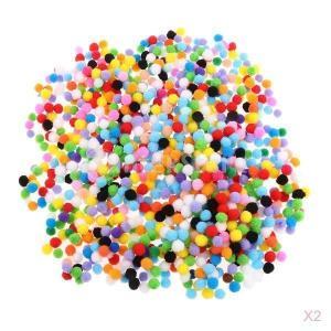 約2000個 10mm フェルトボール 手芸用品 DIY装飾用 ポンポンボール 工芸品創造 ミニカラーボール ふんわり 充填用材