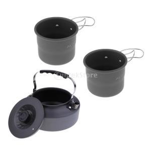 アルミ合金 1600ml アウトドア キャンプ ハイキング用 茶ケトル コーヒーポット 150ml ...