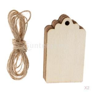 ブランク 木製 タグ 装飾小物 カード作成 サイン作成 パーティー用品 20枚入り|stk-shop
