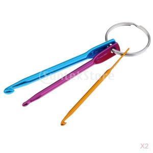 2セット 3サイズ アルミ かぎ針編みフック 編み針セット シングルポイント 工芸 ツール stk-shop