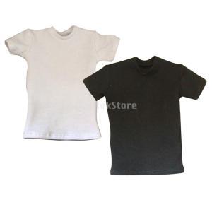 1/6スケール コットン ラウンドネック ショート Tシャツ 12インチ男性アクションフィギュア用 人形服装