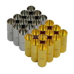 アクセサリーパーツ トーンマグネットクラスプ 24個セット シルバー+ゴールド クラスプ 6mm|stk-shop