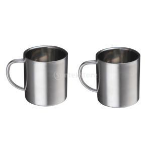 ステンレス フラットボトム 二重壁 絶縁 マグカップ コーヒー ビール ティー マグ 400ml グ...