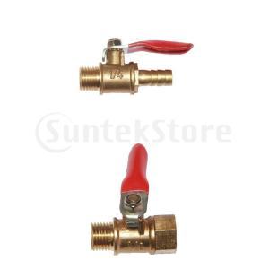 オス-オス 1/4 フルポート 真鍮 ボール バルブ シャット オフスイッチ DN8 部品 直接接続|stk-shop