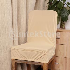 説明: 高品質弾性ストレッチ低背もたれ背もたれ椅子シートカバーバースツールカバー。 ポリエステルスパ...