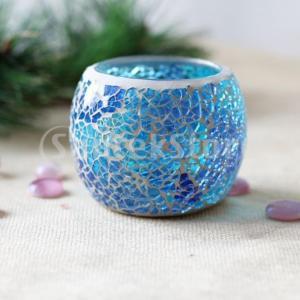 2セットモロッコモザイクガラスキャンドルティーライトホルダーCandelabraキャンドルスティック|stk-shop