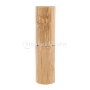 5本の天然竹の詰め替え可能な空のエッセンシャルオイルのメイクアップロールボトル|stk-shop
