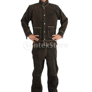 溶接スーツ熱/難燃性のやけどのない茶色のシャツl +ズボンl
