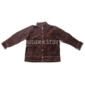 溶接スーツ熱/難燃性のやけどのない茶色のシャツxl +パンツxl