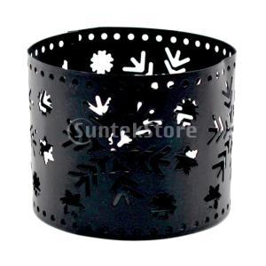 2ピースクリスマス中空キャンドルホルダー鉄燭台デスクトップ装飾|stk-shop