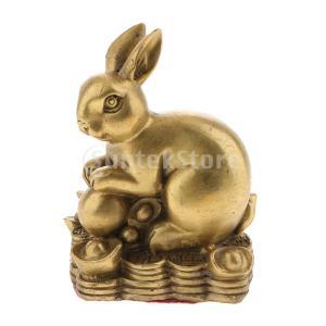 4本真鍮中国の黄道帯動物置物飾りの家の装飾|stk-shop