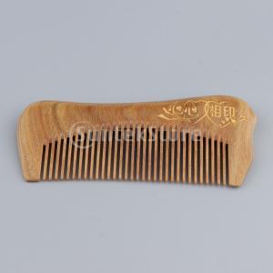 4本の広い歯の天然木の髪のくし帯電防止マッサージデタングル櫛|stk-shop