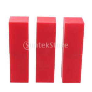 赤/黒空化粧口紅チューブ詰め替え式リップグロスボトル容器|stk-shop