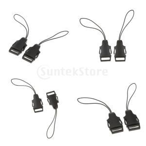 8個セット カメラバックル DSLRショルダーストラップ ネックベルト用 クイックリリース ABS材|stk-shop