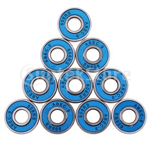 20ピーススケートボードベアリング、ブルーABEC-9高速耐摩耗性スケートスチールホイールベアリング...