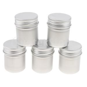 30個のアルミスズ貯蔵容器化粧品ポットジャー空ボトルボックス50ml